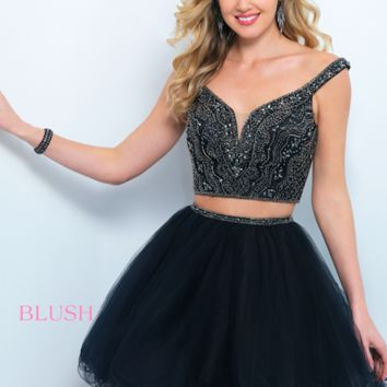 Blush 11369 Two-Piece Tulle Dress