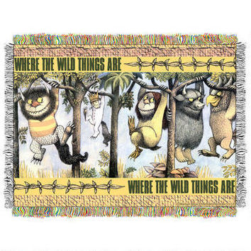 Where the Wild Things Are Woven Tapestry Throw Blanket |