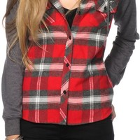 Empyre Sycamore Red & Charcoal Hooded Flannel