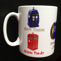 Soft Kitty Inspired Dr. Who Tardis Mug