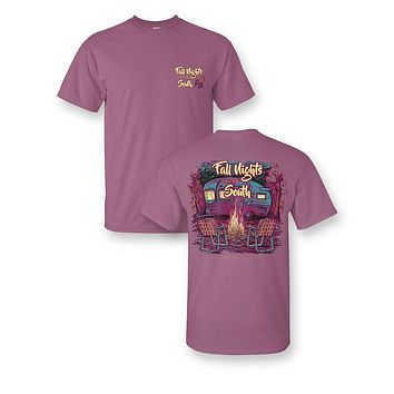 Sassy Frass Fall Nights in the South Bonfire Camper Comfort Colors Girlie Bright T Shirt