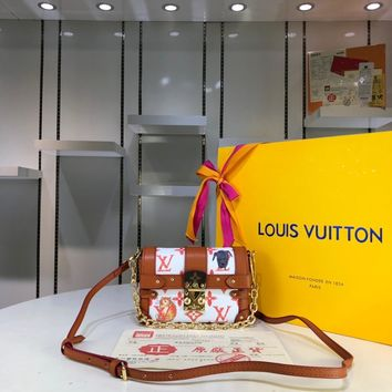 DCCK Lv Louis Vuitton Fashion Women Men Gb29610 M63891 Small Leather Goods All Collections Eye-trunk For Iphone X & Xs 16.5*6*11cm