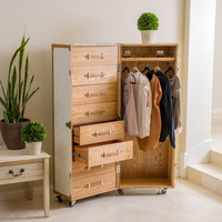 Christopher Knight Home Richfield Rolling Wardrobe | Overstock.com Shopping - The Best Deals on Armoires