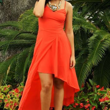 Heartbeat To The Drums Dress: Tomato