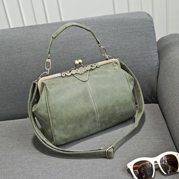 Super Cute Leather Crossbody Messenger Motorcycle Bag
