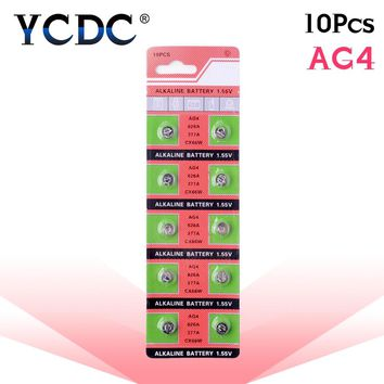 10pcs/pack AG4 LR626 377 Button Batteries SR626 177 Cell Coin Alkaline Battery 1.55V 626A 377A CX66W For Watch Toys Remote