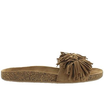 Musse & Cloud Bluebell - Cue Pom Pom Fringe Footbed Slide Sandal