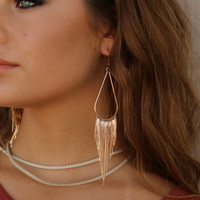 Stone Cold Gold Dangle Earrings
