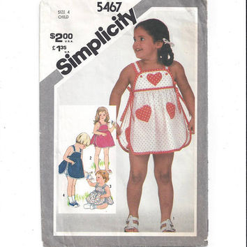 Simplicity 5467 Pattern for Child's Sundress & Panties, From 1982, Size 4, Mostly Uncut, Vintage Pattern, Home Sewing, Sewing for Children