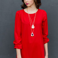 Rendezvous Dress in Red