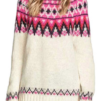 Zigzag Printing Pullovers Sweater