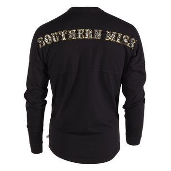 Official NCAA University of Southern Mississippi Golden Eagles Southern Miss Women's Long Sleeve Spirit Wear Jersey T-Shirt