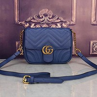 Perfect  Gucci Women Leather Shoulder Bag Satchel Crossbody