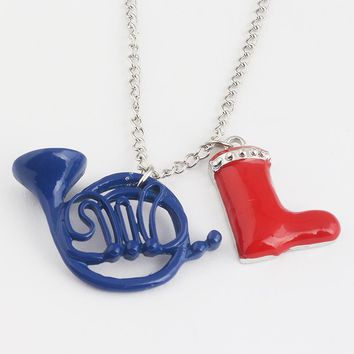 RJ New Alice in Wonderland Red Shoes Blue French Pendant Necklaces How I Met Your Mother Necklace For Friend Best Gift Choker