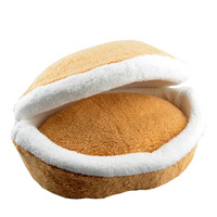 Cat Hamburger bed Litter disassembly Windproof Pet Nest Shell Cat Bed Hiding Burger Bun CA37152168