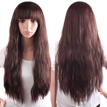 Princess Long Cosplay Wig With Bangs
