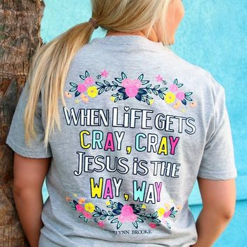 Jadelynn Brooke: Jesus is the Way Short Sleeve Tee {L. H.Grey}