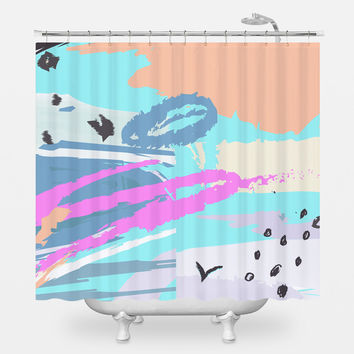 Happy Old Man Shower Curtain