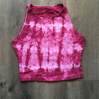 Hot Pink Tie Dyed Crop Top Size S
