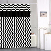 chevron black and white special custom shower curtains that will make your bathroom adorable