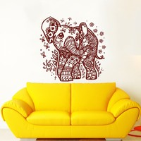 Indian Elephant Wall Decals Elephant Wall Decal Indian Animal Patterns Vinyl Sticker Home Interior Wall Decor for Any Room Housewares Mural Design Graphic Bedroom Wall Decal Bathroom (5860)