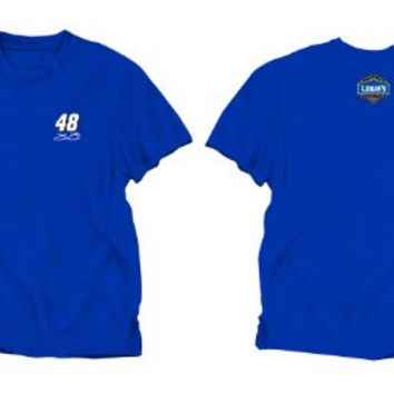 NASCAR Jimmie Johnson #48 Blue Cool Running Performance T-Shirt (Large)