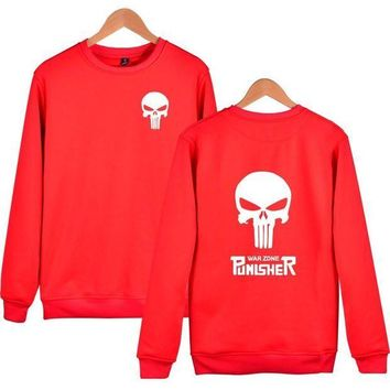 ESBONU3 American drama Male Punisher Wei Yiwei clothes skull head casual personality trend fashion coat
