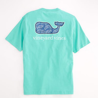 Sea Life Batik Whale Pocket T-Shirt