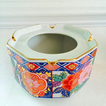 Oriental Decor, Vintage Ashtray, Bowl, or Planter, Asian Decor Home Accent
