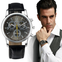 "Best selling 1 good Luxury Fashion Leather Men""s Analog Watch I-eatd watches"