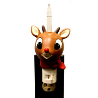 Christmas Rudolph Bubble Night Light Christmas Decor