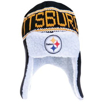 Pittsburgh Steelers - Logo Yeti Peruvian Knit Hat