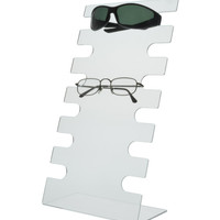 6 Tier Acrylic Slant Back Sunglass Display Rack