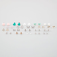 FULL TILT 20 Pairs Bow/Heart Earrings | Earrings