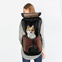 OSIR Dog or Cat Pet Carrier Backpack Soft And Convenient Available for Airplane Travel or Outdoor Activities