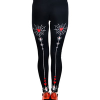 Lexy leggings - heart spiderwebs