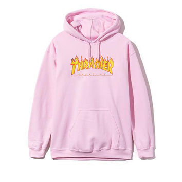Womens PINK Thrasher sweatshirt hoodies