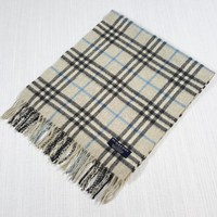 AUTHENTIC VINTAGE BURBERRY SCARF 100% CASHMERE