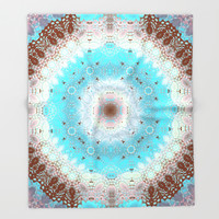 Mandala Illusions Throw Blanket by Octavia Soldani | Society6