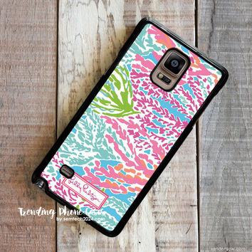 Lilly Pulitzer-Let's Cha Cha Samsung Galaxy Note 4 Case Cover for Note 3 Note 2 Case