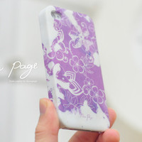 apple iphone case : abstract pattern with violet watercolor from nappage