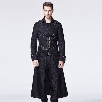 Punk Rock Fashion Man Long Coat Punk Gothic Cosplay Steampunk Cool brand qualityy 594