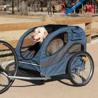 Solvit 62341 HoundAbout Bicycle Pet Trailer, Large
