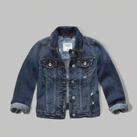 girls classic denim jacket | girls clearance | Abercrombie.com