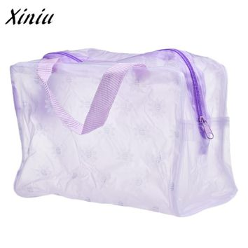 2017 Hot Sale Women Portable Makeup Cosmetic Bags Transparent Toiletry Travel Wash Toothbrush Pouch Small Bag Cheap price