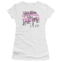 GOSSIP GIRL/YOU LOVE ME - S/S JUNIOR SHEER - WHITE -