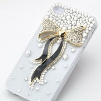 New Chic Elegant Bling Bow with Ribbons Bling Rhinestones Mobile Cell Phone Case for iPhone 4s 5s 6 Plus Samsung - Casemoda | Pinkoi