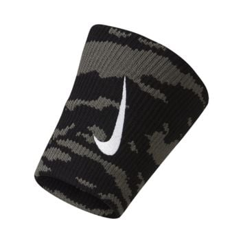 Nike Dri-FIT Camo Doublewide Wristbands (Grey)