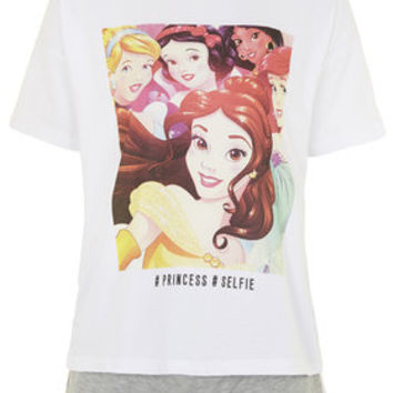 Disney Princess Selfie Pyjama Set - White