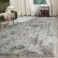 Safavieh Handmade Venice Shag Silver Polyester Rug (8' x 10') - Free Shipping Today - Overstock.com - 18656867 - Mobile